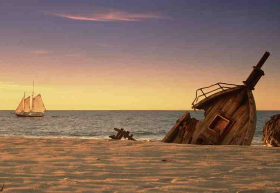 The invention of the ship led to the shipwreck